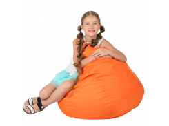 Кресло-мешок Груша Хатка средняя Оранжевая (подростковая)
