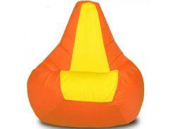 Кресло-мешок Груша Хатка Элит детская Оранжевая с Желтым (до 5 лет)