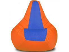 Кресло-мешок Груша Хатка Элит детская Оранжевая с Синим (до 5 лет)