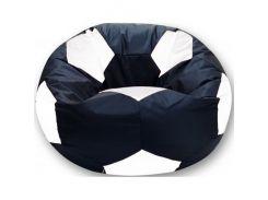 Кресло-мешок Мяч Хатка средний Черный с Белым