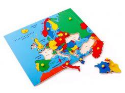 Рамка вкладыши Карта Европы Lam Toys 32 детали 41.00х30.00х0.90 (5013)