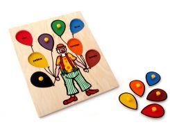 Рамка вкладыши Клоун Lam Toys 8 деталей 29.50х24.00х0.90 (5011)