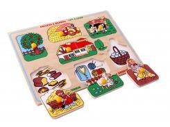 Рамка вкладыши Большая ферма Lam Toys 8 деталей 29.50х20.50х0.90 (1420)