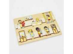 Рамка вкладыши Ванная комната Lam Toys 8 деталей 29.50х20.50х0.90 (1401)