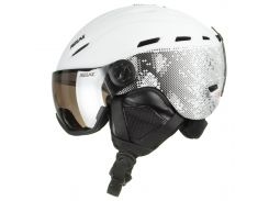 Шолом гірськолижний Relax Prevail RH28E Visor M White-Black