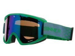 Маска гірськолижна Sinner BELLEVUE GREEN Transparent-GREEN Mir (SIGO-173-76-28)