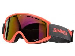 Маска гірськолижна Sinner BELLEVUE Mat NEON ORANGE-Full RED Oi (SIGO-173-60-58)