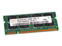 Оперативная память SO-DIMM 2GB/800 DDR2 Hynix original (HYMP125S64CP8-S6) - Refubrished